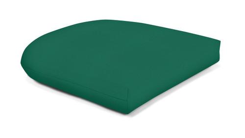 Quick Ship Sunbrella Wicker Seat Pad Canvas Forest Green