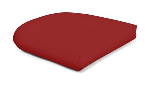 Quick Ship Sunbrella Wicker Seat Pad Canvas Jocky Red