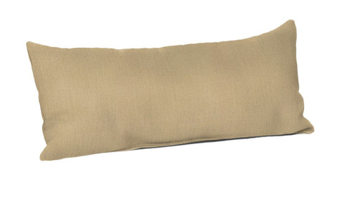 "Quick Ship Sunbrella 22"" x 9"" Pillow Canvas Heather Beige"