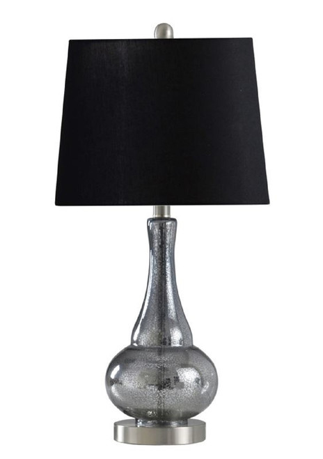 StyleCraft Glass and Metal Sheer Blue Table Lamp 25""