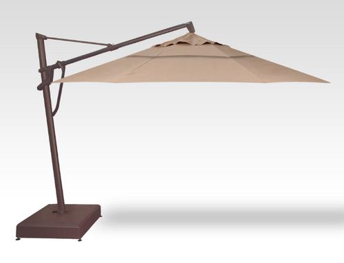 Treasure Garden Quick Ship 11' Octagon Cantilever In Sunbrella Heather Beige-Double Wind Vent w/Bronze Finish