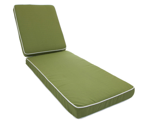 Outdoor Chaise Cushion La Playa Grass with Ties