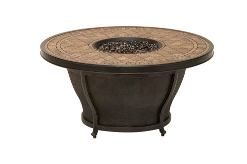 """Balmoral 48"""" Round Firepit with Porcelain Top"""
