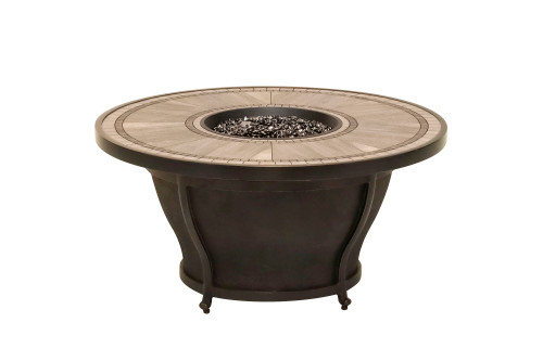 "Huntington Round 48"" Firepit with Porcelain Top"