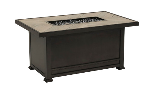 """Arlo 32"""" x 52"""" Rectangular Fire Pit with Porcelain Top"""