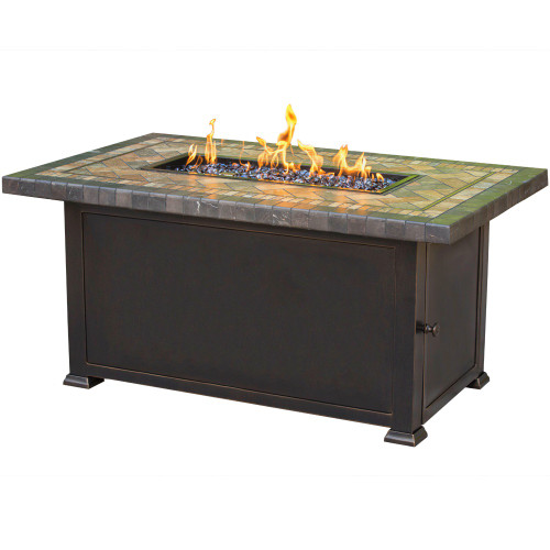 """Florence 32"""" x 52"""" Fire Pit with Porcelain Top"""