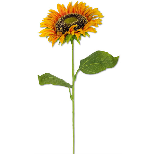 "Sunflower Stem Orange 26"" Set of 6"