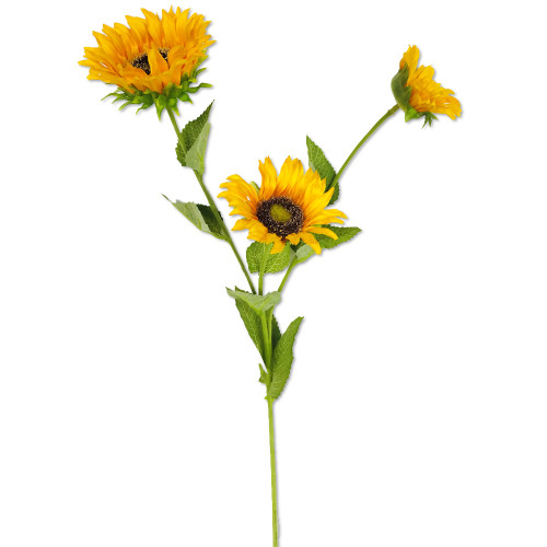 "Sunflower Stem x 3 Yellow 26.5"" Set of 6"