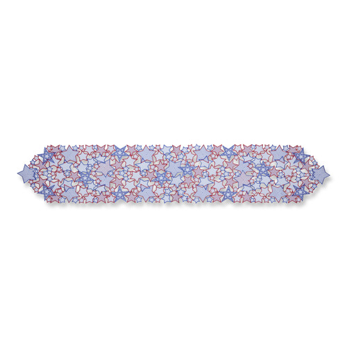 Pillow Perfect Star Bright Red-White-Blue 68-inch Table Runner