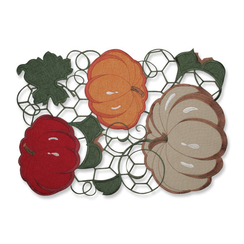 Pillow Perfect Pumpkin Stack Harvest Placemat (Set of 2)
