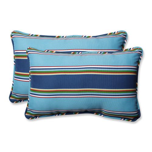 Pillow Perfect Bonfire Regata Rectangular Throw Pillow (Set of 2)