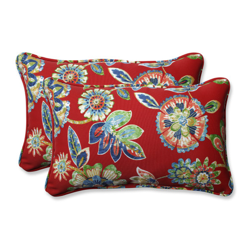 Pillow Perfect Daelyn Cherry Rectangular Throw Pillow (Set of 2)