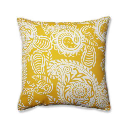 Pillow Perfect Addie Egg Yolk 25-inch Floor Pillow