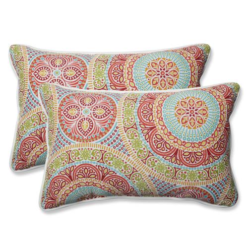 Pillow Perfect Delancey Jubilee Rectangular Throw Pillow (Set of 2)