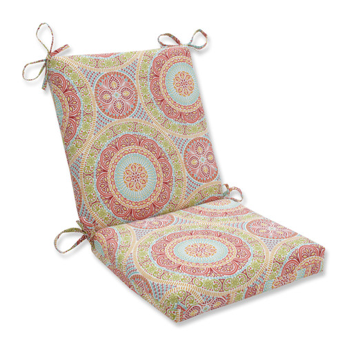 Pillow Perfect Delancey Jubilee Squared Corners Chair Cushion
