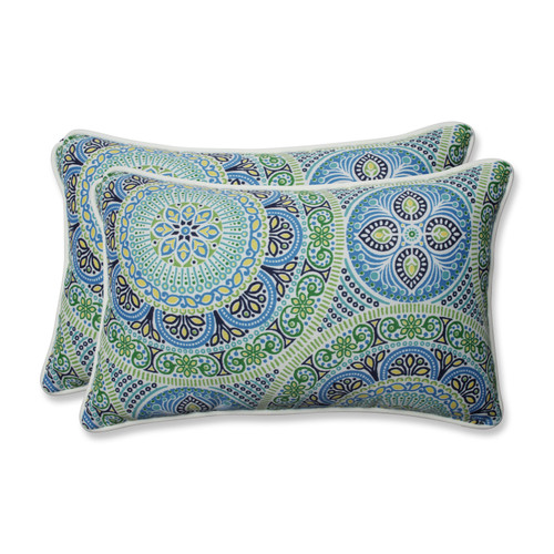 Pillow Perfect Delancey Lagoon Rectangular Throw Pillow (Set of 2)