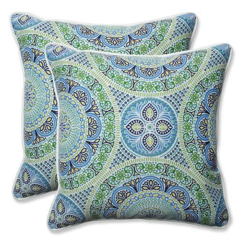 Pillow Perfect Delancey Lagoon 18.5-inch Throw Pillow (Set of 2)