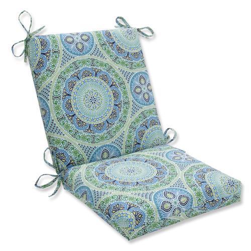 Pillow Perfect Delancey Lagoon Squared Corners Chair Cushion