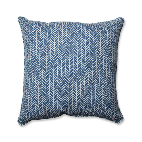 Pillow Perfect Herringbone Ink Blue 25-inch Floor Pillow