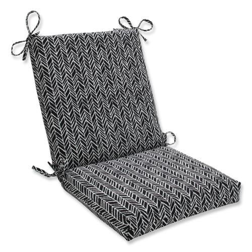 Pillow Perfect Herringbone Night Squared Corners Chair Cushion
