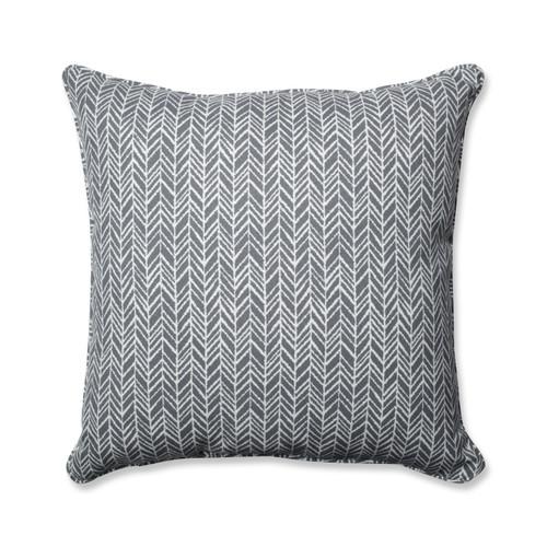 Pillow Perfect Herringbone Slate 25-inch Floor Pillow