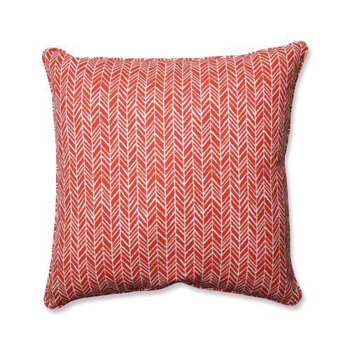 Pillow Perfect Herringbone Tomato 25-inch Floor Pillow