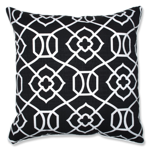 Pillow Perfect Kirkland Black 25-inch Floor Pillow