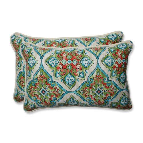 Pillow Perfect Splendor Opal Rectangular Throw Pillow (Set of 2)