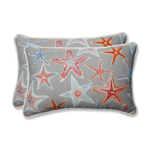 Pillow Perfect Stars Collide Pewter Rectangular Throw Pillow (Set of 2)
