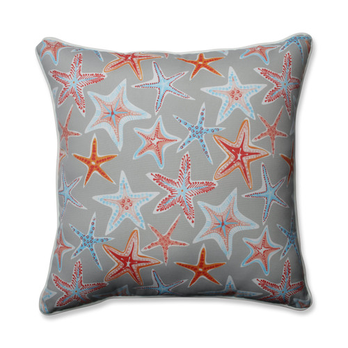 Pillow Perfect Stars Collide Pewter 25-inch Floor Pillow