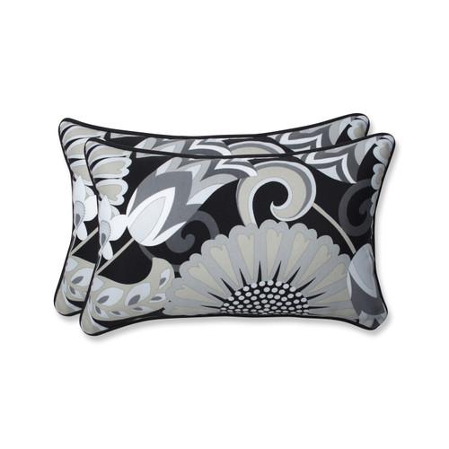 Pillow Perfect Sophia Graphite Rectangular Throw Pillow (Set of 2)