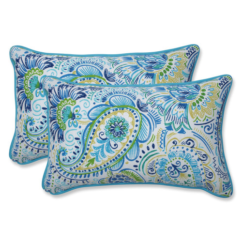 Pillow Perfect Gilford Baltic Rectangular Throw Pillow (Set of 2)