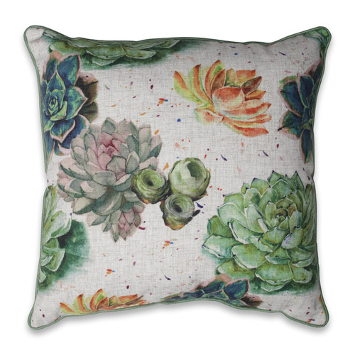 Pillow Perfect Succulent Plants Aloe Green 18-inch Throw Pillow