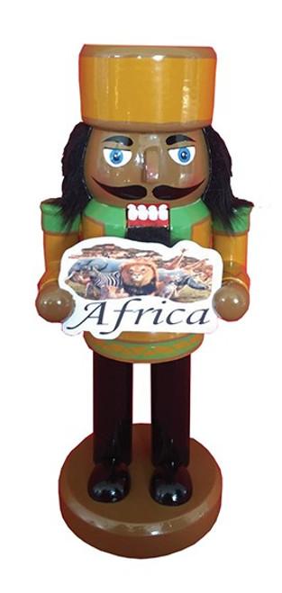 "Santa's Workshop Africa Nutcracker 10"""