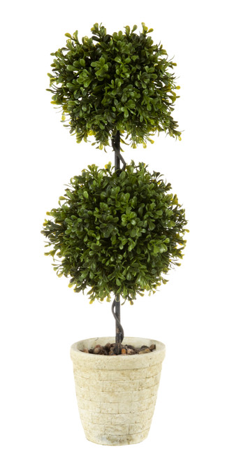 """Spring Boxwood Double Ball Topiary 24"""""""
