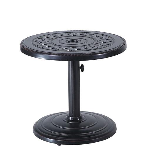 "Gensun Grand Terrace 24"" Round Umbrella End Table 50LB Base"