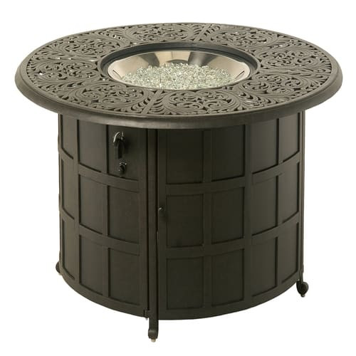"""Hanamint Chateau Outdoor 48"""" Round Counter Height Enclosed Gas Fire Pit Table"""