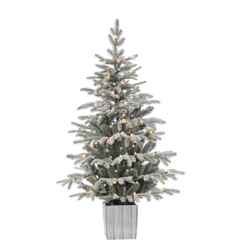 Potted Artificial Iceland Prelit Fir 4.5'