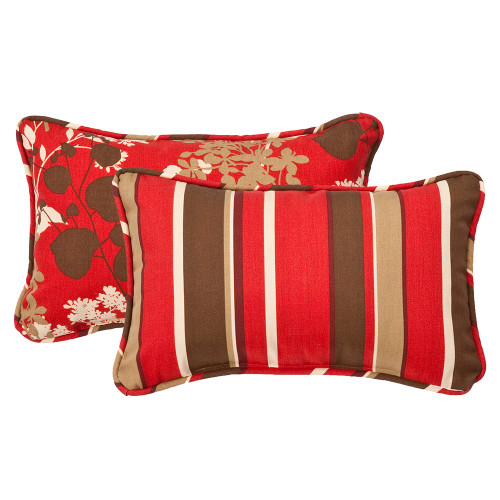 Pillow Perfect Montifleuri|Monserrat Reversible Rectangle Throw Pillow (Set of 2)