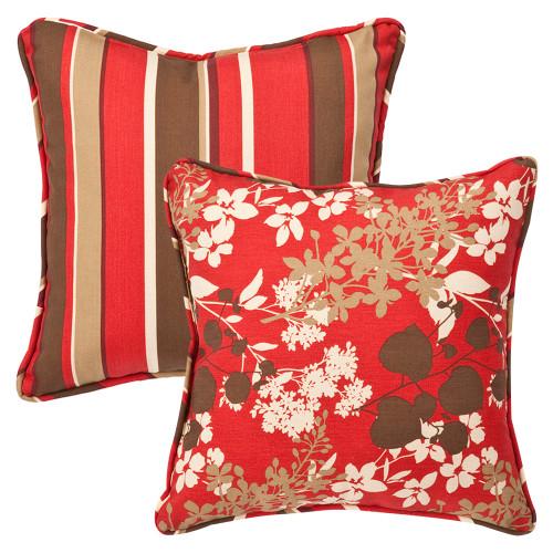 Pillow Perfect Montifleuri|Monserrat Reversible 18.5-Inch Throw Pillow (Set of 2)