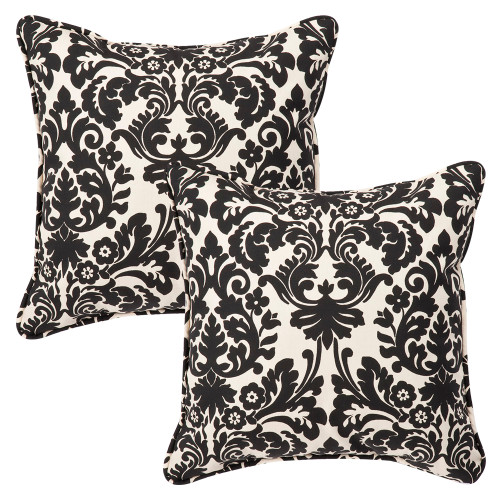 Pillow Perfect Essence Black Beige 18.5-Inch Throw Pillow (Set of 2)