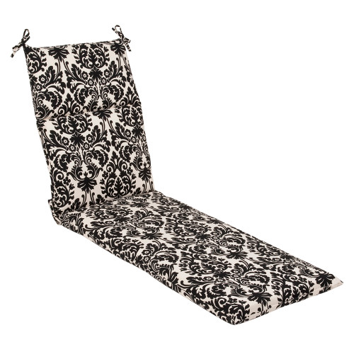 Pillow Perfect Essence Black|Beige Chaise Lounge Cushion