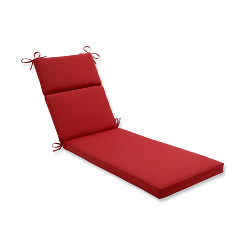 Pillow Perfect Pompeii Red Chaise Lounge Cushion