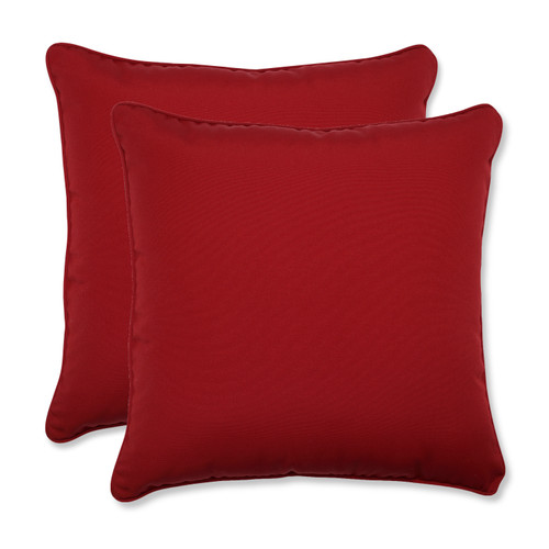 Pillow Perfect Pompeii Red 18.5-Inch Throw Pillow (Set of 2)