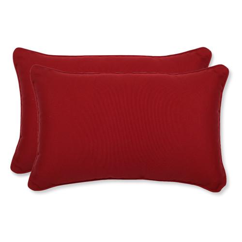 Pillow Perfect Pompeii Red Rectangle Throw Pillow (Set of 2)