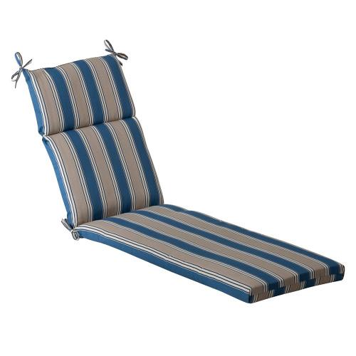 Pillow Perfect Hamilton Blue Chaise Lounge Cushion