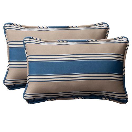 Pillow Perfect Hamilton Blue Rectangle Throw Pillow (Set of 2)