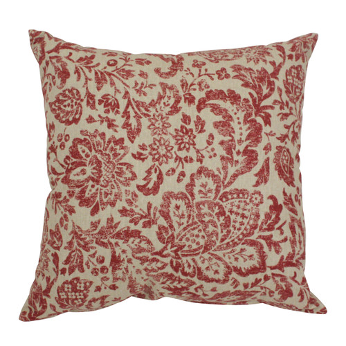 Pillow Perfect Fairhaven Damask 16.5-Inch Throw Pillow