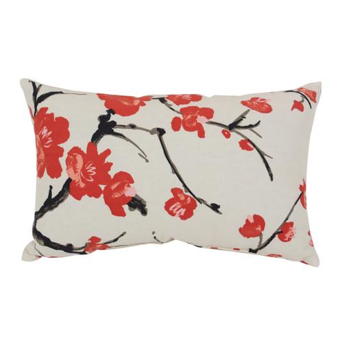 Pillow Perfect Flowering Branch Rectangle Throw Pillow