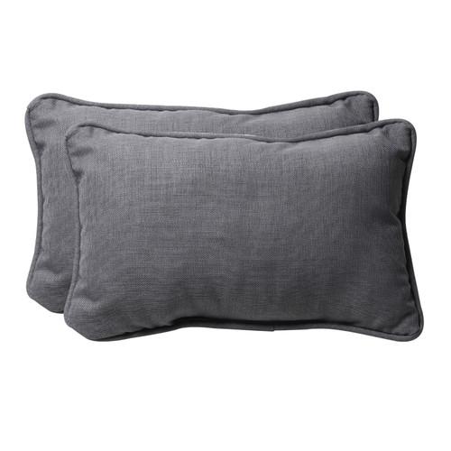 Pillow Perfect Rave Graphite Rectangle Throw Pillow (Set of 2)